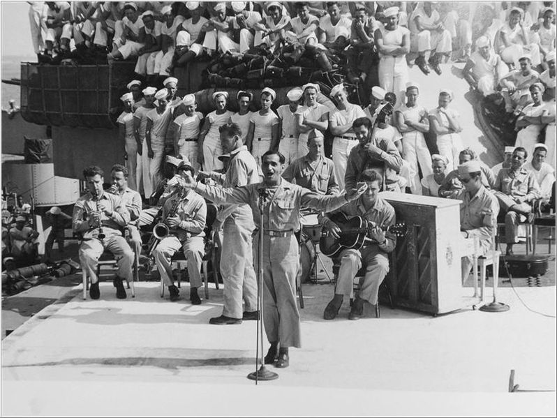 irving berlin entertaining the troops